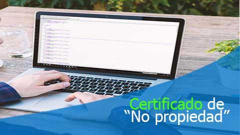 """Certificado de """"no propiedad"""" disponible Supernotariado.gov.co"""