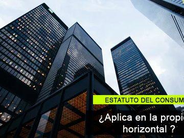 Las normas del Estatuto del consumidor no se aplican al régimen de la propiedad horizontal