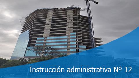 Instrucción administrativa Nº 12 de 2017