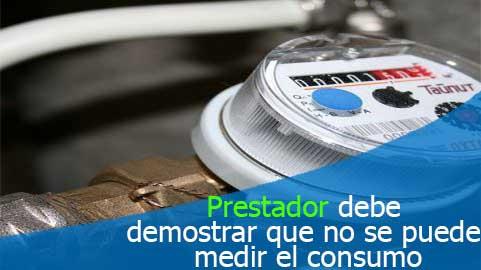 Prestador debe demostrar que no se puede medir el consumo para proceder a reparar o cambiar el medidor