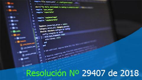 Resolución Nº 29407 de 2018