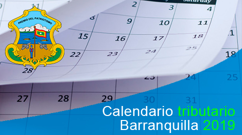 Calendario tributario 2019 de Barranquilla