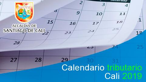 Calendario tributario 2019 del impuesto predial Cali