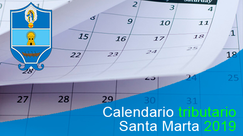 Calendario tributario 2019 de Santa Marta