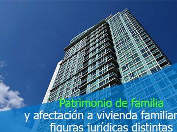 Reglas del patrimonio de familia voluntario no pueden aplicarse a la figura de la afectación de vivienda familiar