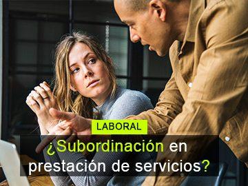 Instrucciones, control y horarios en contratos por prestación de servicios