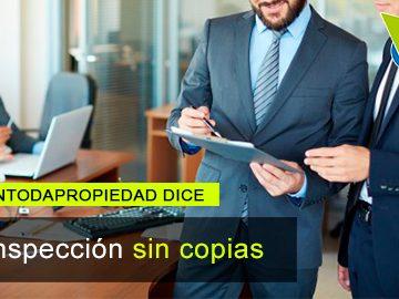 Derecho de inspección no permite obtener copias de documentos en P.H.