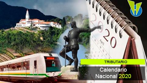 Calendario tributario nacional y de principales ciudades 2020