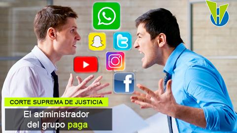 Responsabilidad por perjuicios causados con grupos de WhatsApp