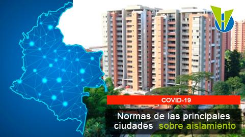 Medidas tomadas en las principales ciudades de Colombia durante el nuevo aislamiento