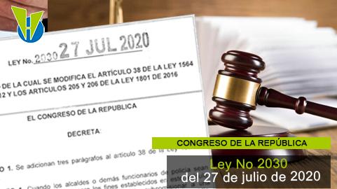Ley 2030 del 27 de julio  de 2020
