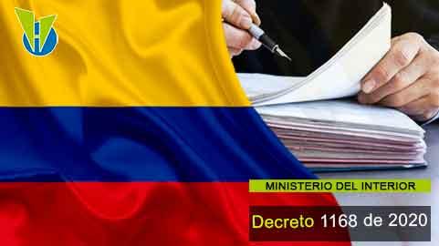 Decreto 1168 de 2020