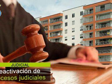 Se reactivan procesos judiciales: ¿cómo debe estar preparada la P.H.?