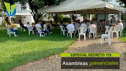 Asambleas presenciales: gobierno autoriza realizarlas