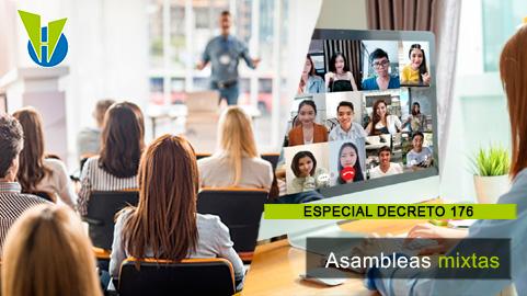 En asambleas mixtas qué reglas se aplican ¿las de presenciales o virtuales?