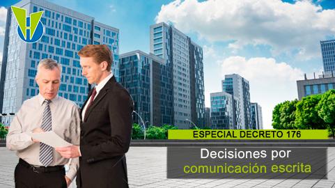Decisiones por comunicación escrita: ¿cuántos deben participar?