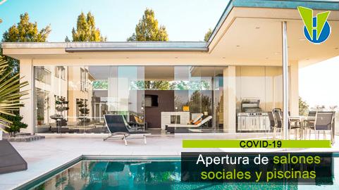 Aún no es posible abrir salones sociales ni la totalidad de las zonas comunes, pero sí permitir ingreso de domicilios