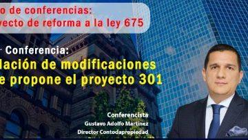 2da conferencia: Relación de modificaciones que propone el proyecto 301