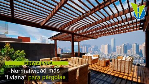 Pérgolas en terrazas y zonas comunes: Minvivienda establece nuevas condiciones