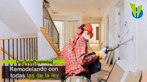 Cuáles obras en zonas privadas o comunes requieren licencia urbanística